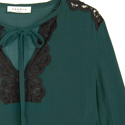lace ribbon dress green